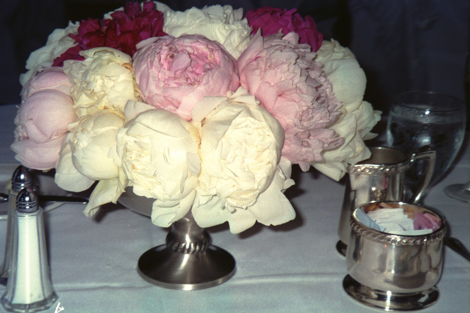 Fresh cut peonies for ritas wedding